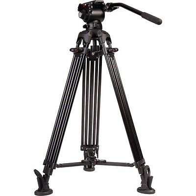 iKan EG03A2 2-section Aluminum Tripod with GH03 Video Head - Black