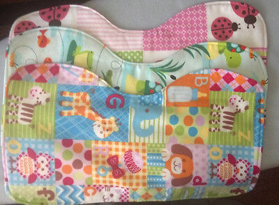 Handmade baby burp cloths TRIPLE LAYER every order gets a free gift