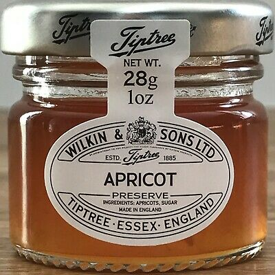 22 x 28g Mini Tiptree Apricot Jams Ideal For Wedding Favours ,B&B,S ,Party's