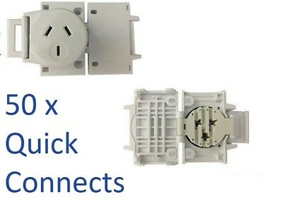 50 x Quick Connect Plug Bases For Downlights Surface Socket Sock2