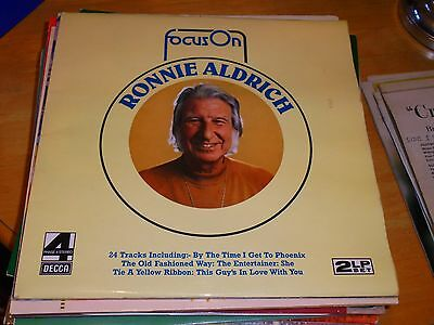 Lp/ Ronnie Aldrich /focus On (Double Lp 1975 Uk Decca Phase 4 Stereo