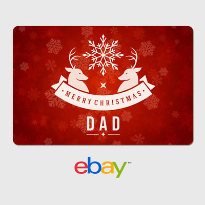 eBay Digital Gift Card - Holiday Parents - Merry Christmas Dad - Email Delivery
