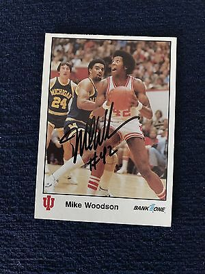 Mike Woodson Signed Trading Card Autographed Indiana Hoosiers IU Bank One 1