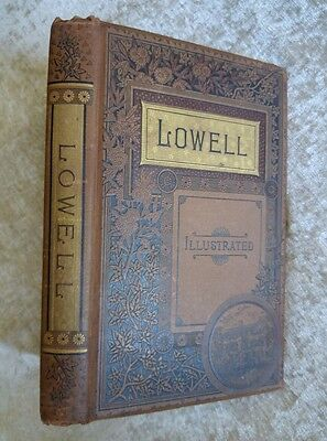 The Poetical Works of James Russell Lowell Antique 1885 Large Victorian Illus.