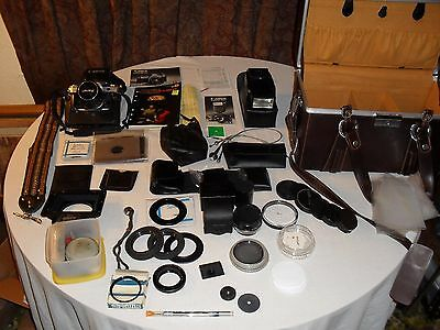 Canon Ae-1 Film Camera - Lens, Filters W/ A Lot Of Accessories - See Description