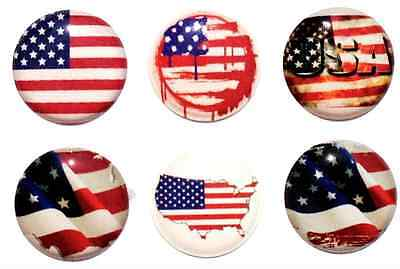 6pcs Home Button Sticker USA Flag Red White Blue Home Buttons iPhone 5/4/3 Apple