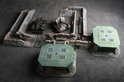 14 pieces Bunker Trench terrain scenery for warhammer 40k and other 28mm Wargame