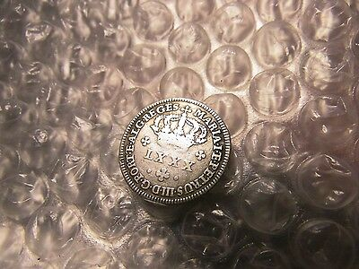 Portugal 1750-1777 LXXX (80) Reis Silver Coin ON SALE SAVE $$$