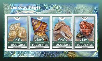 Z08 IMPERFORATED TG16618a TOGO 2016 Shells MNH Mint