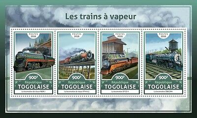 Z08 IMPERFORATED TG16620a TOGO 2016 Steam trains MNH Mint