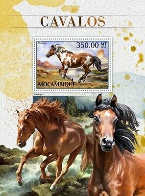 Z08 IMPERFORATED MOZ16503b MOZAMBIQUE 2016 Horses MNH Mint