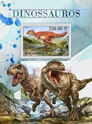 Z08 IMPERFORATED MOZ16508b MOZAMBIQUE 2016 Dinosaurs MNH Mint