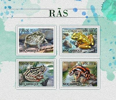Z08 IMPERFORATED MOZ16513a MOZAMBIQUE 2016 Frogs MNH Mint