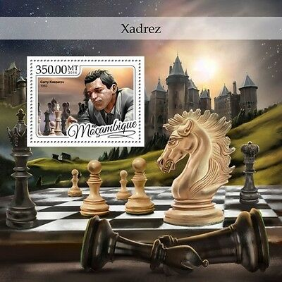 Z08 IMPERFORATED MOZ16405b MOZAMBIQUE 2016 Chess MNH Mint