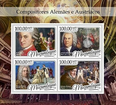 Z08 IMPERFORATED MOZ16412a MOZAMBIQUE 2016 Composers MNH Mint