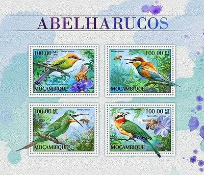 Z08 IMPERFORATED MOZ16510a MOZAMBIQUE 2016 Bee-eaters MNH Mint