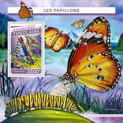 Z08 IMPERFORATED TG16503b TOGO 2016 Butterflies MNH