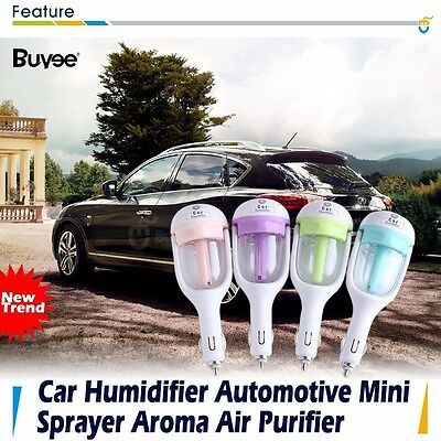 Mini Car Air Humidifier Diffuser Essential Oil Ultrasonic Aroma Mist Purifier CA