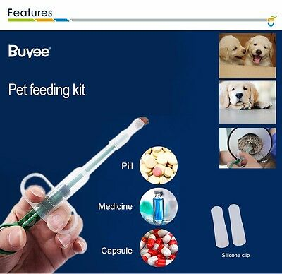 NEW Pet Dog Cat Capsule Tablet Pill Gun Popper Piller Pusher Syringe Doser