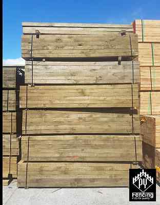 Treated Pine ECOWOOD non arsenic Sleepers 200 x 50 x 1.8m H4 Retaining Walls