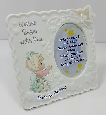 Precious Moments 1998 Wishes Begin With You Reach For The Stars Picture Frame