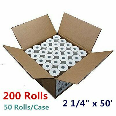 "200 Roll Case 2 1/4"" x 50' Thermal Cash Receipt Paper POS Register Vx510 ICT220"