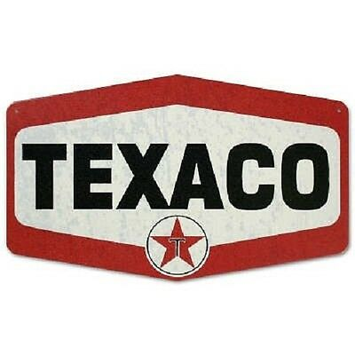 Texaco Gas Station Sign Vintage Style Retro Metal Die Cut Tin Logo Service New