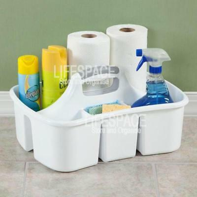 Sterilite Ultra Large Divided Utility Caddy with Carry Handle for Cleaning