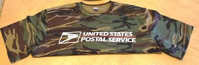 Usps Postal Camo Camouflage T-Shirt Full Two Color Postal Logo On Chest S-4X