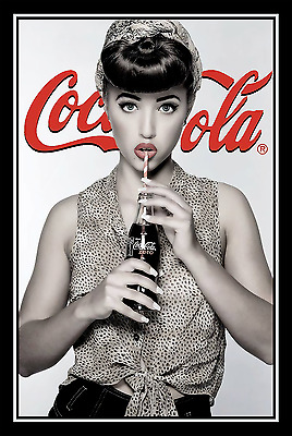 "Coca Cola Pin Up Girl Poster 12""x18"" (#8)"