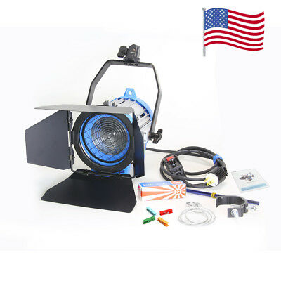 110V Dimmer  Built-in 650W Tungsten Fresnel Spot light + globe Light