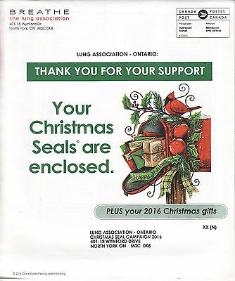 2016 CLA Canada National Christmas Seal Campaign Packet, CS16-0054C