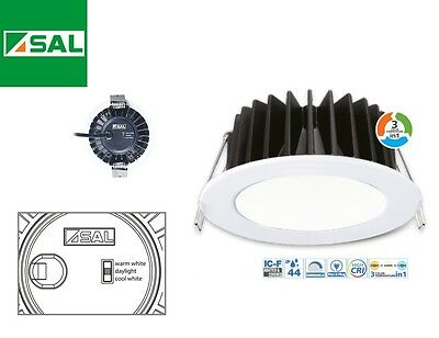 10w LED Downlight CCT Changing Warm, Cool or Daylight SAL Lighting S9041TC