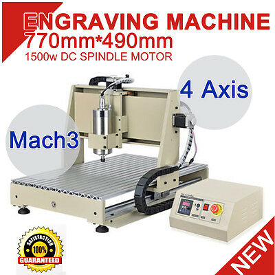 4 Axis Cnc Router Engraver Engraving Cutter 6040 Artwork 1500W Cutter 3D Desktop