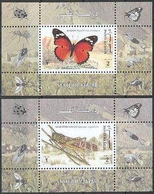Qatar 1998 ** Bl.33/34 Insekten Insects Butterflies Schmetterlinge