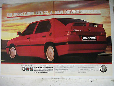 1990 Alfa Romeo 33 1.7 2 Page Australian Magazine Colour Advertisement