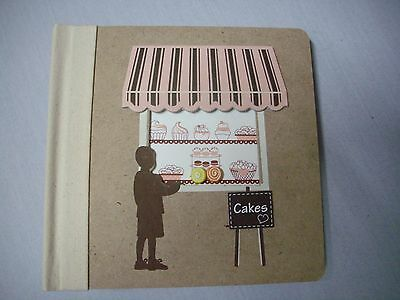RUSTIC CAKE CAKE PHOTO ALBUM RECYCLED LOOK 100 PHOTOS W/MEMO [d] CO CONCEPTS NEW