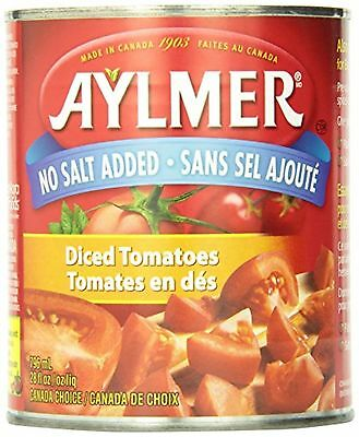 Aylmer Diced Tomatoes No Salt Added, (Pack of 12)