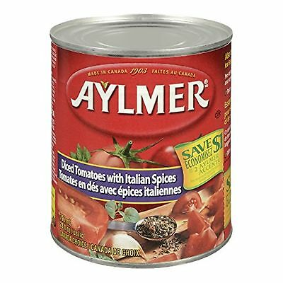 Aylmer Aylmer Diced Tomatoes Italian Spices No Salt Added 9552 Milliliters (P...