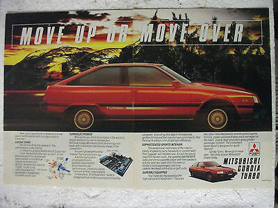 1985 Mitsubishi Cordia Turbo Australian Magazine 2 Page Colour Advertisement