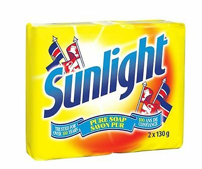 Sunlight Lemon Laundry Detergent Bar, 2x130 Grams