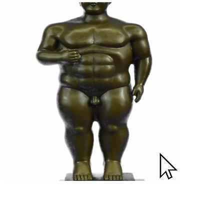 HandcraftedOriginal Milo Abstract Nude Tribute To Botero Style Sculpture A
