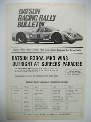 Datsun R380A-Mk3 Wins At Surfers Paradise Magazine Fullpage Advertisement