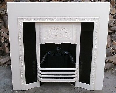 Stunning Original and Complete Victorian Cast Iron Fireplace with Surround