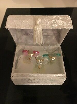 Angels Blessing Box - Three Angels with prayer Boxed Gift Treasure Unused