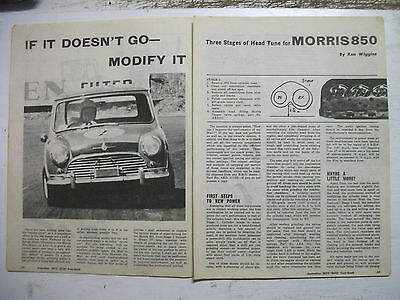Morris Mini 850 3 Stages Of Head Tuning 4 Page Australian Magazine Article