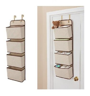 Delta Children 4-Pocket Nursery Diaper & Baby Accessory Over the Door Organizer