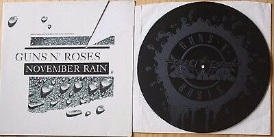 "GUNS N' ROSES NOVEMBER RAIN / SWEET CHILD O' MINE /PATIENCE 12"" Etched  Disc"