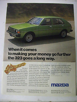 1979 Mazda 323 20 Years In Australia Fullpage Magazine Advertisement