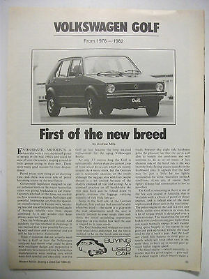 Volkswagon Golf 1976 To 1982 Secondhand Car Buying Guide